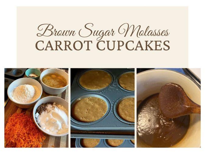 Brown Sugar Molasses Carrot Cupcakes